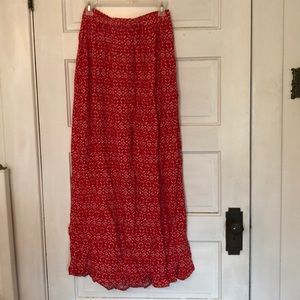 Cute | Red Maxi Skirt